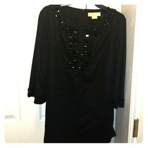 Michael Kors black tunic top